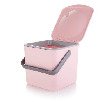 Minky Pastel Pink Compost Food Waste Caddy