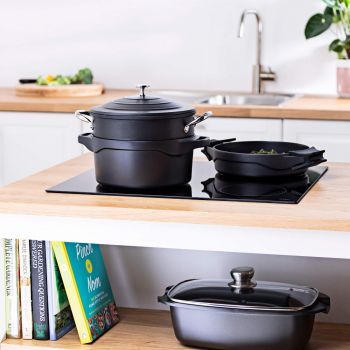 Vitinni Non-Stick Cast Aluminium Multi Use Casserole Set