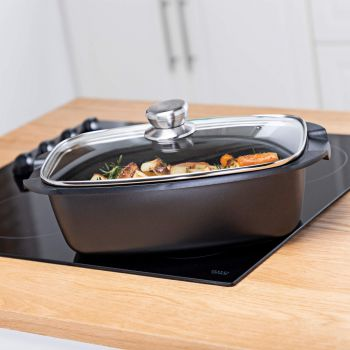 Vitinni Non Stick Roaster with Glass Lid
