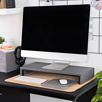 PC Monitor Stand in Charcoal Grey
