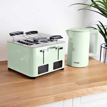 Te Verde Kettle and Toaster Set