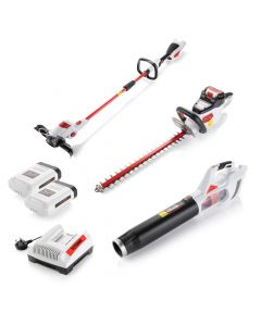 Ultimate Cordless Garden Power Tool Kit inc. 2x Rechargeable Batteries and Fast Charger
