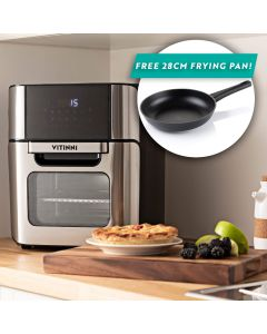 XL 12L Digital Air Fryer with FREE 28cm Non-Stick Cast Aluminium Frying Pan