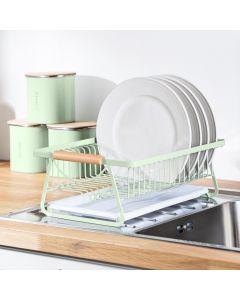 Te Verde Pastel Mint Green Dish Drying Rack