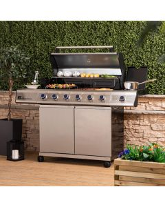 Fire Mountain Premier Plus 6 Burner Gas Barbecue with Protective Cover