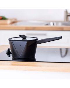Vitinni Easy Store 18cm Non Stick Cast Aluminium Saucepan with Glass Lid
