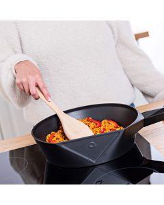 Vitinni Easy Store 28cm Non Stick Cast Aluminium Saute Pan with Glass Lid